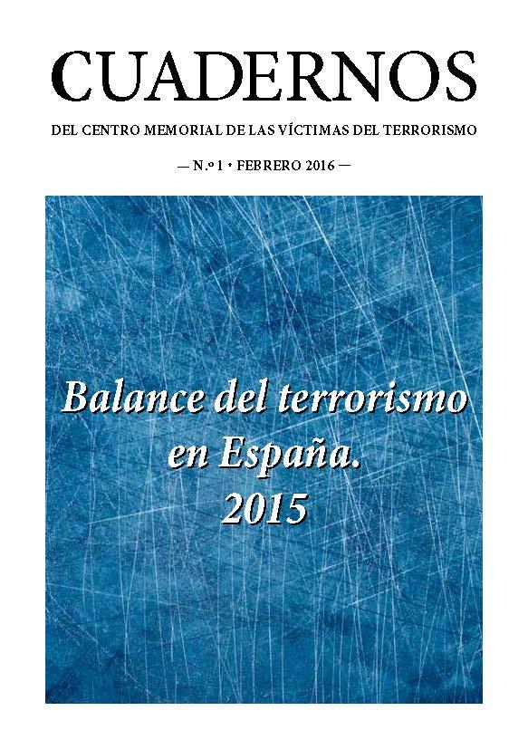 Balance del terrorismo en España. 2015