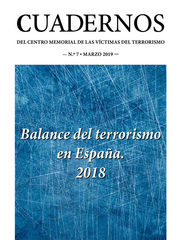 Balance del terrorismo en España 2018